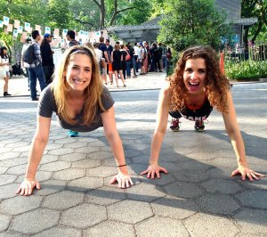 With dance cardio instructor Sadie, in Madison Square Park.