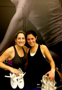 Saturday morning cycling at Revolve with my sister, Kara.